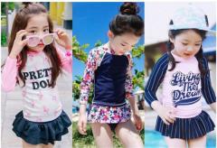 caeb6acf5ee7b  送料無料 韓国子供服 水着 女の子 子供 セパレート 子ども 新作水着 上下セット