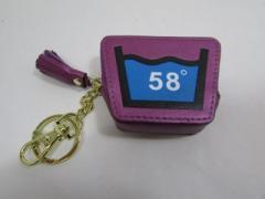 Shoku 7カラーコインケース「58゜」頑丈な新素材・箱入り「カラーバイオレット系」