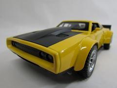 サウンド・ライト&プルバック♪ サウンドライトミニカー 1:32 Dodge War Horse ダッジ・ワーホース イエロー NMC112YE