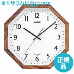 CASIO CLOCK カシオ クロック 電波掛け時計 ゼブラウッド 多角型 IQ-1211J-7JF [4549526218231-IQ-1211J-7JF]