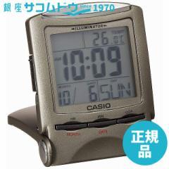 CASIO CLOCK カシオ クロック デジタル表示トラベルクロック メタリックグレーPQ-50J-8 [4971850592259-PQ-50J-8]