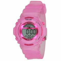2f0977f006 腕時計 ウォッチ TELVA テルバ デジタル 腕時計 ストップウォッチ機能付き TE-D067-PK ピンク