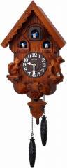 CITIZEN シチズン リズム時計工業 RHYTHM クロック [ 本格的 ふいご式 カッコー 時計 ] カッコーパンキーR 木枠/濃茶ボカシ木地仕上げ 4M