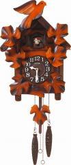 CITIZEN シチズン リズム時計工業 RHYTHM クロック カッコー 掛け時計 カッコーメイソンR 本格的ふいご式 茶 木地仕上 4MJ234RH06