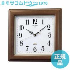 SEIKO CLOCK セイコー クロック KS298B 掛け時計 電波 アナログ 四角型 木枠 茶木地 KS298B