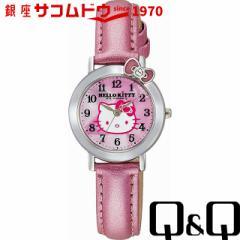 Q&Q キューアンドキュー 腕時計 ウォッチ Hello Kitty (ハローキティ) ピンク VW23-130 レディース[メール便 日時指定代引不可]