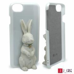 J_case うさぎケース for iPhone8 / 7 / 6s / 6  白うさぎ+白ケース JC-i8RWW