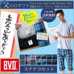 【父の日ギフト】 全国送料無料 B.V.D.ステテコセット ステテコ Tシャツ 3点セット プレゼント ギフト 涼しい リラックス ルームウェア