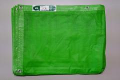 メッシュシート 1.8×5.4 10枚入り グリーン ネットシート 送料無料 防炎メッシュ