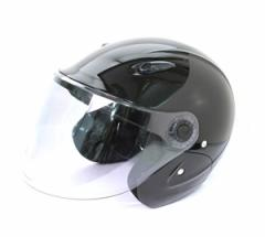 【6/3(木)は三太郎の日】セミジェットヘルメット KSJ-323 バイク用 メタリックブラック