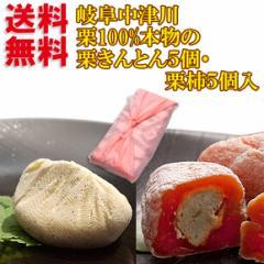 スイーツ 和菓子 ギフト プレゼント 送料無料 秋の味覚 岐阜中津川の栗100% 栗きんとん 5個 栗柿 5個入り