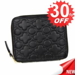 コムデギャルソン 財布 二つ折り財布 COMME DES GARCONS EMBOSS SA210EB   BLACK 比較対照価格 22,572 円