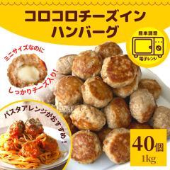 コロコロ チーズインハンバーグ ひとくち ミニハンバーグ 1kg 約40個入り 業務用 冷凍 冷凍食品 レンジ ハンバーグ お弁当 温めるだけ チ