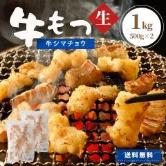 牛ホルモン 1kg (500g×2) 焼肉 しま腸 送料無料 牛肉 肉 ホルモン 大腸 シマチョウ 冷凍 冷凍食品 もつ もつ煮 もつ鍋 お鍋 業務用 大容