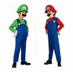 1〜2日発送 ハロウィン コスプレ コスチューム スーパーマリオ  変装 マリオ セット ゲーム Halloween キッズコスプレ衣装