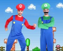 即日発送  ハロウィン コスプレ スーパーマリオ ゲームコス メンズ 変装 仮装 大人用 パーティー イベント大人気