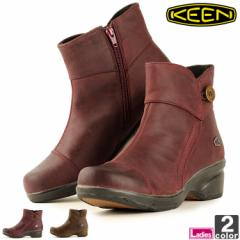 キーン【KEEN】レディース ブーツ モラ ミッド ボタン 1014102 1806 ショートブーツ サイドジップ