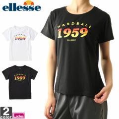 【ゆうパケット対応】エレッセ 【ellesse】レディース カラフル ロゴ Tシャツ EW17280 1810 トップス カットソー