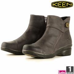 キーン【KEEN】レディース ブーツ モラ ミッド ボタン 1014103 1811 ショートブーツ サイドジップ