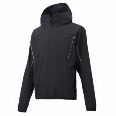 DESCENTE (デサント) フーデッド長袖ハイブリッドシャツ ブラック×Sゴールド DBX-3605L 1810 メ