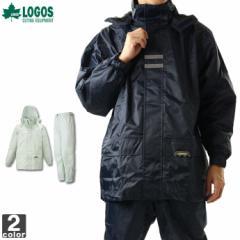 レインウェア 上下セット  ロゴス LOGOS  メンズ バックパック レインスーツ 23716 1804 レインコート 雨具 防水 セットアップ