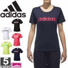 アディダス【adidas】 レディース SID リニア 半袖 Tシャツ ETX95 1803 シャツ トップス