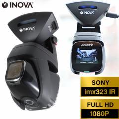 INOVA ドライブレコーダー コマ録 3R-DVR01 広角 フルHD 高画質 衝撃録画 駐車監視 ドラレコ 自転車 バイク カメラ 写真 動画撮影 動画