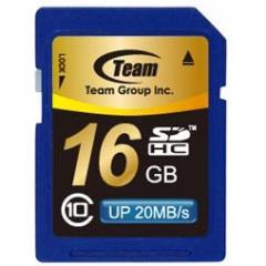 SDカード 16GB class10 メモリーカード SDHCカード 10年保証付 TEAM チーム 最大20MB/秒 TG016G0SD28K 送料無料