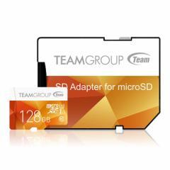 TEAM Microsdカード 128GB SDXC MicroSDXC UHS-1 10年保証 シンプル 大容量 メール便 おすすめ