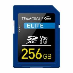 TEAM SDカード 256GB SDXC UHS-I V30シリーズ 10年保証 シンプル 大容量 メール便 おすすめ
