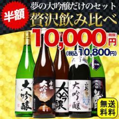 日本酒 セット ギフト 夢の大吟醸 飲み比べ セット 半額 大放出 税別1万円ポッキリ(税別) プレゼント