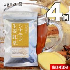 【送料無料】小川生薬 シナモン生姜紅茶 2g×20袋 4個セット