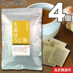 【送料無料】小川生薬 生姜ほうじ茶 2g×20袋 4個セット