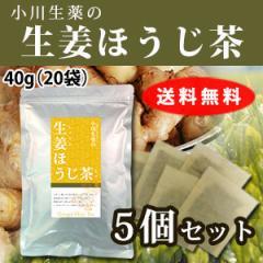 【送料無料】小川生薬 生姜ほうじ茶 2g×20袋 5個セット