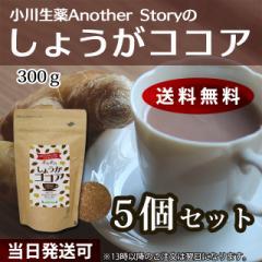 【送料無料】小川生薬AnotherStory しょうがココア 300g 5個セット