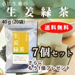 【送料無料】小川生薬 生姜緑茶 2g×20袋 7個セットさらにもう1個プレゼント