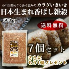 【送料無料】小川生薬めぐりあう恵み カラダいきいき日本生まれ香ばし雑穀 600g 7個セットさらにもう1個プレゼント