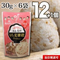 【送料無料】小川生薬めぐりあう恵み みんなのもち麦雑穀 30g×6袋 12個セットさらにもう1個プレゼント