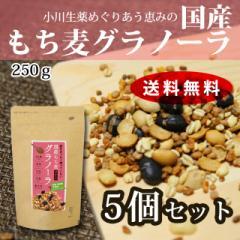 小川生薬のもち麦グラノーラ 250g 5個セット