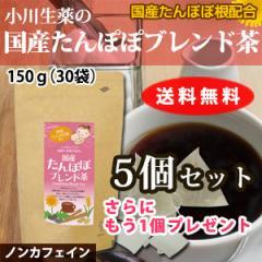 【送料無料】小川生薬 国産たんぽぽブレンド茶 5g×30袋 5個セットさらにもう1個プレゼント