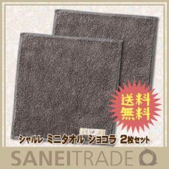 【シャルレ】ミニタオル ショコラ ハンカチ代わりに使えるミニサイズ 2枚セット