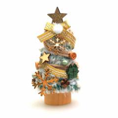 【クリスマス】JAC 東急ハンズ限定 クリスマスミニツリー HZ19−6 メタルスノー/ゴールド