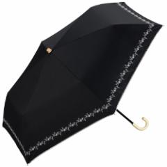 w.p.c 晴雨兼用日傘 折りたたみ傘 遮光プチフラワー刺繍mini 801−622 ブラック