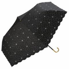 w.p.c 日傘 折りたたみ傘 マーガレットレース ミニ 801−278BK ブラック