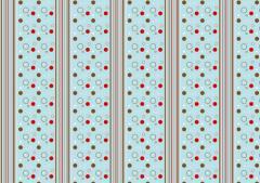 ペーパー・ランチョンマット『レトロ=ストライプ』 10枚入 (B4版)  LUN-151