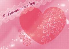 ペーパー・ランチョンマット『St.Valentine's Day』 10枚入 (B4版)  LUN-224