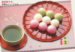 ペーパー・ランチョンマット『お花見団子・桜(ピンク)』 10枚入 (B4版)  LUN-241