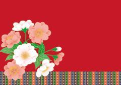 ペーパー・ランチョンマット『ひなまつり/緋毛氈に桃の花』 10枚入 (B4版)  LUN-236