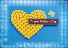 ペーパー・ランチョンマット『Thanks Father's Day』 10枚入 (B4版)  LUN-303