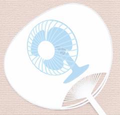 目に涼しい。だけじゃない『扇風機』うちわ   UCW-112